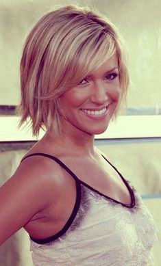 Trendy short blonde hair
