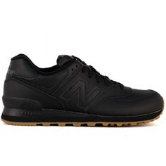 The New Balance Mens 574 in black and gum. Avaialbe now for $79.95 on CityGear.com