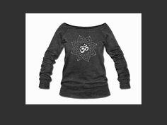Om Flower Slouchy Sweatshirt Yoga Wear Yoga by BusyBugsBoutique