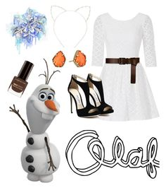 """""""Frozen: Olaf"""" by hopelessromance69 ❤ liked on Polyvore featuring Lilly Pulitzer, Barbara Bui, Kendra Scott, Cara, Max Factor and Disney"""