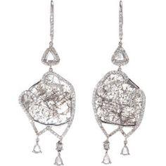 Grey Diamond Slice Valencia Earrings