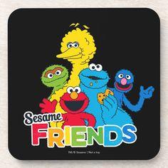 Posavasos Amigos del sésamo del Sesame Street el | | Zazzle.com Create Your Own, Create Yourself, Custom Coasters, Elmo, Surface Design, Tweety, High Gloss, Decorating Your Home, Keep It Cleaner