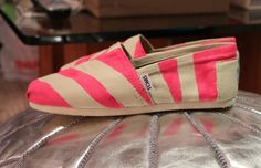 DIY neon stripe toms