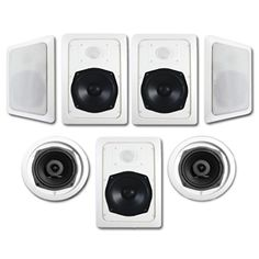 In Wall Home Theater Speakers new acoustic audio hd725 7.1 in wall home theater surround sound