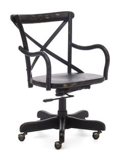 office chairs Union Square Solid Wood Office Chair Black 98030