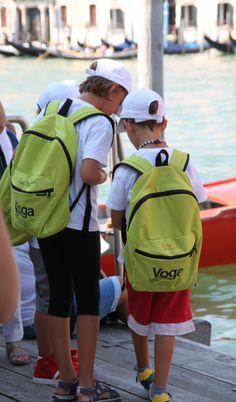 Voga camp (rowing camp) kids getting ready - the Gloria Rogliani kids!