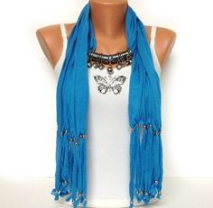 jewelry+scarf+blue++blue+color+soft+and+unique+by+BienBijou,+$24.00