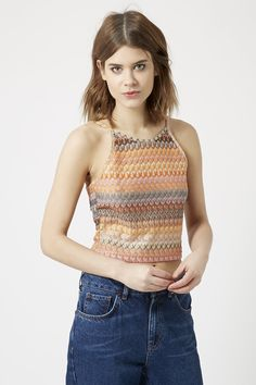 Photo 3 of Crochet Square Neck Crop Top