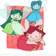 Fairies https://www.facebook.com/amanda.esplugues #fairies #fairy #fairydrawing #drawing #digitaldrawing #characterdesign #fairydesign