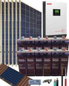 Kit Solar Aislada 3000W 24V 8100Whdia con batería OPzS Kit Solar, Solar Projects, Mixer, Cool Stuff, House, Prefab Homes, Home Plans, Prefabricated Home, Big Windows