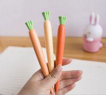 Original de zanahoria en forma de 0.5 mm negro Innk plumas de Gel Diamond Head pluma papelería escuela Material de oficina 2015 nueva caliente venta(China (Mainland))