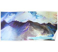 Purple misty mountain poster by Harker Shaw - christmas present gift ideas
