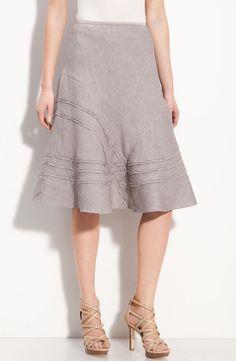 nic-zoe-french-linen-criss-cross-linen-blend-skirt