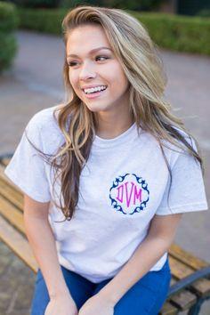 246ca13f Diamond T Shirt, Monogram T Shirts, Staple Pieces, Summer Wardrobe, Capsule  Wardrobe