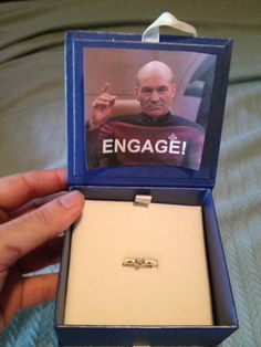 A friend of mine just proposed to his girlfriend this Christmas morning with this...