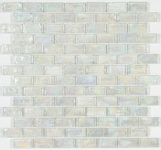 Iridescent Pool Glass Tile Clear 1x2
