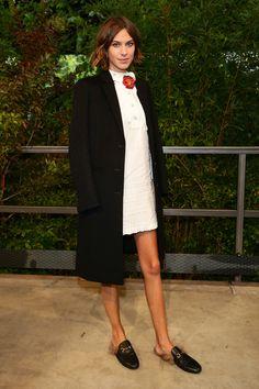 Alexa Chung bei der Gucci Modenschau im September 2015
