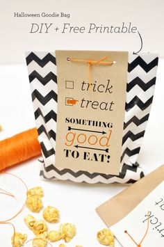 Halloween Goodie Bag DIY + Free Download from Smitten on Paper