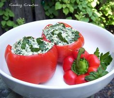 Italian Cheese & Spinach Stuffed Peppers