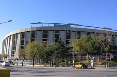41. Camp Nou FC Barcelona soccer stadium, Barcelona, Spain. It is situated in a residential and commercial Les Corts. The outside of Camp Nou - the gates and entrances used for games - are rather rugged. Inside you experience a magical palace of sport.
