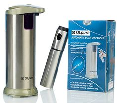 Buy OLpure Automatic Soap Dispenser Touchless Stainless Steel, Brush Polishing, Waterproof Base. comes with Oil Spray Bottle - Reviewhomkit.com ✓ FREE DELIVERY possible on eligible purchases