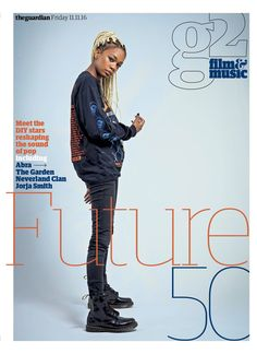 Guardian g2 Film&Music cover: Future 50. #editorialdesign #newspaperdesign #graphicdesign #design #theguardian