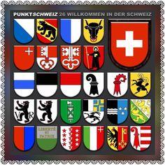 The 26 cantons of Switzerland. Swiss Switzerland, Visit Switzerland, Swiss Chalet, Swiss Alps, Winterthur, Zermatt, Swiss National Day, Switzerland Cantons, Wallis