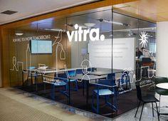 Pentagram - Vitra: Neocon Industrial Office Design, Office Space Design, Office Interior Design, Corporate Interiors, Office Interiors, Office Wall Decor, Office Walls, Office Signage, Luxury Office