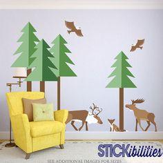 Stickers muraux de forêt mur Stickers sticker animaux