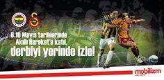 12 Mayıs Pazar günü gerçekleşecek olan Fenerbahçe-Galatasaray derbisini yerinden izleyerek heyecana ortak olmak ister misiniz? O halde tek yapmanız gereken 6-10 Mayıs tarihleri arasında Mobilizm'e üye olmak.