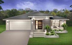 Grey brick houses, modern brick house, modern house facades, building a hou Grey Brick Houses, Modern Brick House, Modern House Facades, Modern House Design, Modern Houses, Flat Roof House, Facade House, Facade Design, Exterior Design