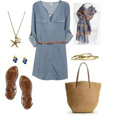 """""""Simple Summer Look"""" by bluehydrangea on Polyvore"""