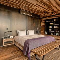 A4estudio の モダンな 寝室