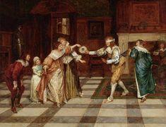 Χριστούγεννα τον Μεσαίωνα – Χείλων Blind Man's Bluff, 18th Century Costume, Romantic Scenes, Magazine Art, Narnia, Art Market, Oil On Canvas, Blinds, History