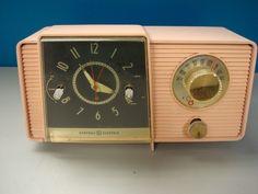 Vintage Antique Pink General Electric Vacuum Tube Radio 1950s Needs Restoration   eBay