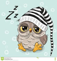 Sleeping Cute Owl - Download From Over 57 Million High Quality Stock Photos, Images, Vectors. Sign up for FREE today. Image: 78202023