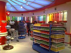M & M store london :)
