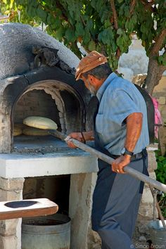 Cyprus Baking traditional bread