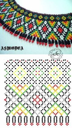 CХЕМИ силянок, кольє з бісеру – 117 photos Diy Necklace Patterns, Beaded Jewelry Patterns, Beading Patterns, Seed Bead Tutorials, Beading Tutorials, Necklace Tutorial, Bijoux Diy, Bead Jewellery, Loom Beading