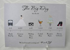 Cool idea - to give guests when they check in at the hotel! Or make one for the bridal party to follow throughout the day!