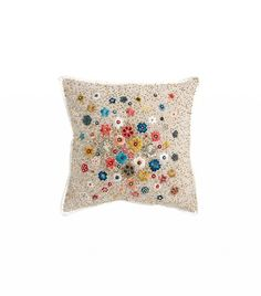 Zara Home Multi-Color Floral Cushion