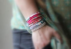 Wickelarmbänder - Armband Wickelarmband Kette extra lang - ein Designerstück von LeneWithLove bei DaWanda