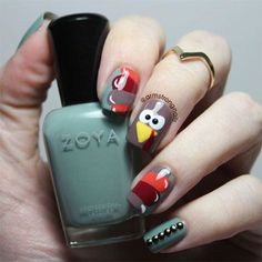 Turkey Nail Art Turkey Nail Art Turkey Nail Art Stripes Design With Turkey Thanksgiving Nail Art Turkey Nail Art 15 Best Turkey Nail Art Designs Ideas Trends 2015 Turkey Nail Art 18 Turkey Nail Art… Creative Nail Designs, Colorful Nail Designs, Creative Nails, Nail Art Designs, Thanksgiving Nail Designs, Thanksgiving Nails, Happy Thanksgiving, Seasonal Nails, Holiday Nails