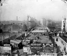 Construction of the Holborn Viaduct which was completed in 1869