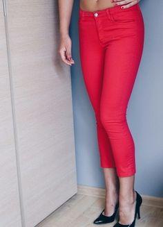 Kup mój przedmiot na #vintedpl http://www.vinted.pl/damska-odziez/rurki/9882361-czerwone-spodnie-rurki-xs-34