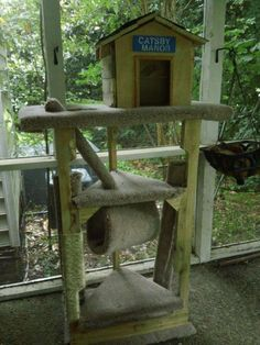 Arbre à chat en bois de palettes