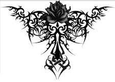 Resultado de imagen para tatuajes de rosas y sangre Body Art Tattoos, Tribal Tattoos, I Tattoo, Fantasy Figures, Dragon Eye, Tatting, Rooster, Tribal Designs, Astronomy