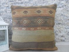 decorative pillow cover turkey kilim pillow 20x20 decorative kilim pillow bohemian pillow sofa pillow aztec pillow tribal pillow