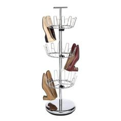 Whitmor 18 Pair Shoe Spinner Chrome