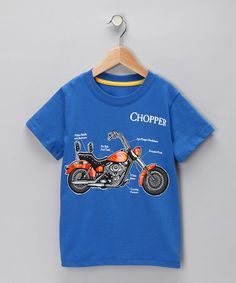 Take a look at this Blue 'Chopper' Tee - Infant, Toddler & Boys by Blow-Out on #zulily today!#FALL   CHASE LOVES MOTORCYLCES